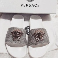 '' Versace '' Women Fashion Casual Slipper Shoes