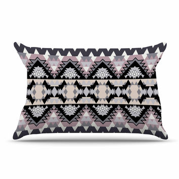 "Victoria Krupp ""Nordic Ice"" Black Pastel Digital Pillow Sham"