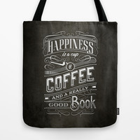 Coffee - Typography Tote Bag by tomekbiernat | Society6
