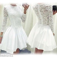 Romina long sleeve lace dress