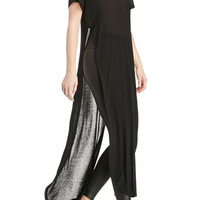 Black Maxi Top with Side Slits