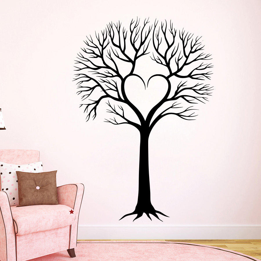 sc 1 st  wanelo.co & Wall Decal Tree Silhouette Decals Natural from DecalsfromDavid on