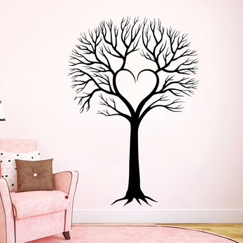 Wall Decal Tree Silhouette Decals Natural Forests for Nursery Room Living Children's Playroom Bedroom Vinyl Stickers Home Decor Murals 3813