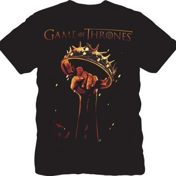 The Game of Thrones Fist Crown Adult Black T-shirt - Game Of Thrones - | TV Store Online