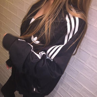 Adidas Women Fashion Cardigan Jacket Coat