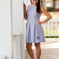 CUSTOM Monogram Seersucker Dress -- Perfect for Summer & Spring! Great for Big/Little, Sororities, and Recruitment!
