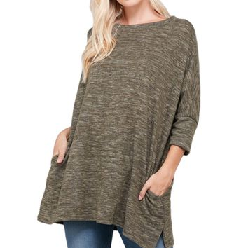 Oversize Brushed Hacci Sweater