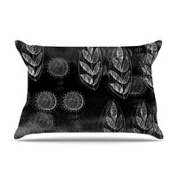 "Marianna Tankelevich ""Grey Dream"" Black Gray Pillow Case"