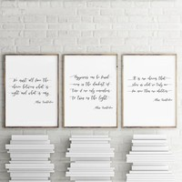 Albus Dumbledore Quote Poster Canvas Art Print , Happiness Can Be Found Harry Potter Quote Poster Canvas Painting Wall Art Decor