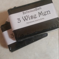 3 Wise Men Soap, Mens Gift Soap, Black Soap, Very masculine soap, Gift soap for dad, husband, boyfriend, son
