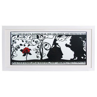 The Beauty of a Beast Signed and Framed Papercut Print
