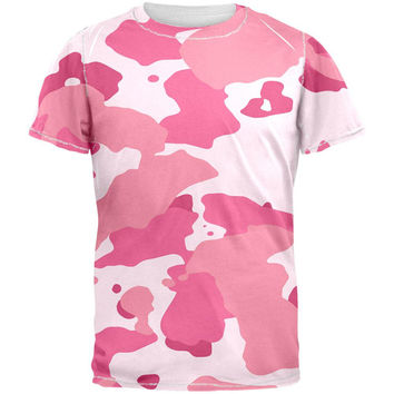 Pink Camo All Over Adult T-Shirt