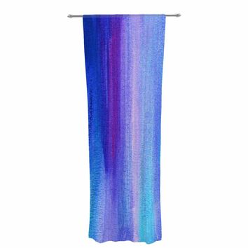 "Li zamperini ""Abstract"" Blue Lavender Abstract Painting Mixed Media Decorative Sheer Curtain"