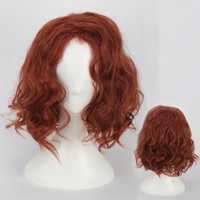 Short Towheaded Wavy Cosplay Synthetic Wig