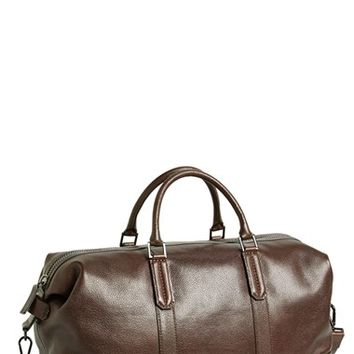 Men's Ben Minkoff 'Mini Wythe' Leather Duffel Bag