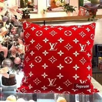 Hot Sale LV Louis Vuitton X Supreme Stylish Family Pure Manual Hold Pillow Cushion For Leaning On I