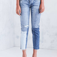 Levis 501 Colorblock Patch Skinny Jean - Ragged Lands - Urban Outfitters