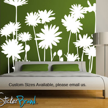 Vinyl Wall Decal Sticker Daisies Flowers  #AC141