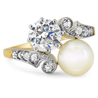 18K Yellow Gold The Pearl Ring