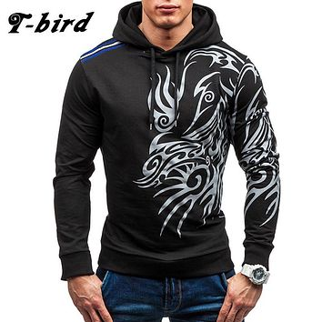 T bird 2017 Hoodies Men Fashion 3D Printing Hoodie Male Hip Hop Sweatshirt Autumn Winter Cotton Pullover Slim Fit Men Hoody XXXL