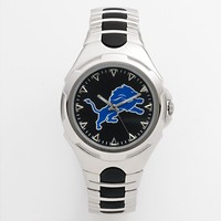 Game Time Victory Series Detroit Lions Silver-Tone Watch - Men