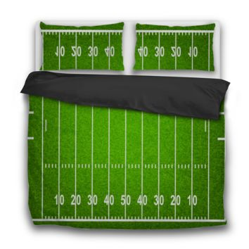Football Field Custom 3 Pcs Bedding Sets