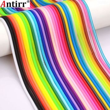 60cm Solid color Wire Cord Rope Protection USB Charging Cable Winder Data Line Protector earphone Cover Suit Spring Sleeve twine