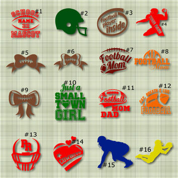 FOOTBALL Vinyl Decals, wall stickers, car decals, grid iron, window stickers, touchdown, decal, car sticker, tumbler decals,