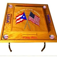 Puerto Rico & USA Domino Table