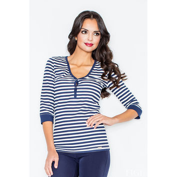 Shade of Navy Striped Top
