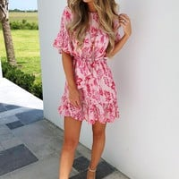 More For Me Dress: Pink/Multi