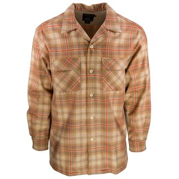 Board Shirt Tan/Copper Plaid