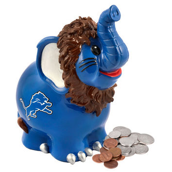 Detroit Lions NFL Thematic Elephant Coin Bank
