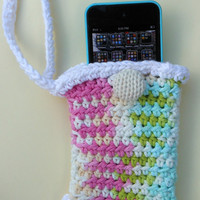 Small Wristlet - Cell phone Holder - Ipod holder - Small Purse -