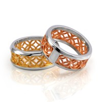Unity Ring - Sterling Silver, Yellow & Rose Gold