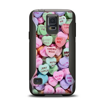 The Candy Worded Hearts Samsung Galaxy S5 Otterbox Commuter Case Skin Set