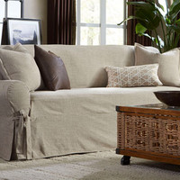 Sure Fit - Textured Linen One Piece Slipcovers