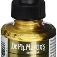 Dr. Ph. Martin's Iridescent Calligraphy Color, 1.0 oz, Copper Plate Gold (11R)