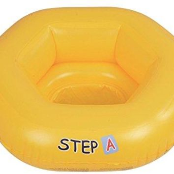 By PoolCentral 26 inch  Yellow Swim  inch Step A inch  Inflatable Swimming Pool Baby Seat Float for Babies 0-1 Years