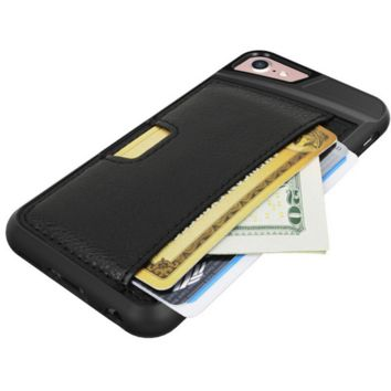 IPhone7 wiping wallet phone case multi-purpose holster