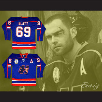 Goon Doug Glatt 69 Halifax Highlanders Hockey Jersey Includes EMHL and A Patches