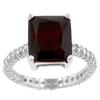 Marlene Ruby Radiant Cut Engagement Cocktail Ring | 7ct | Cubic Zirconia | Sterling Silver
