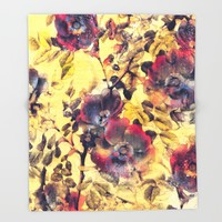 flowers 21 Throw Blanket by jbjart