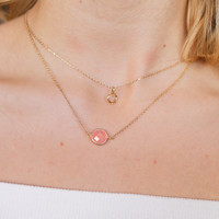 Pixie Necklace - Peach