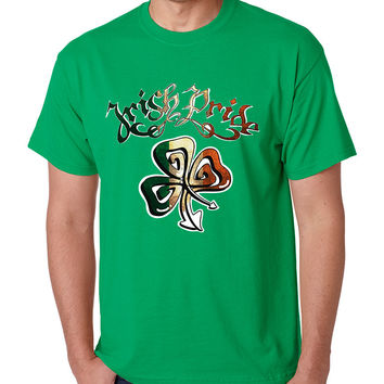 Men's T Shirt Irish Pride Shamrock St Patrick's Day Shirt