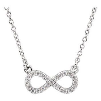 "Platinum 1-8 CTW Diamond 16"" Necklace"