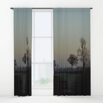 tree view Window Curtains by Jack28