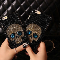 3D Cool Skull Leather Skin Cover Shell for IPhone 6 6s  Back Cover  for Iphone6 6s 4.7inch (Color: Black) = 1741723012