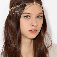 Leaf Fringe Goddess Chain Headwrap- Gold One