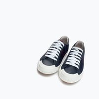 Striped mesh plimsoll